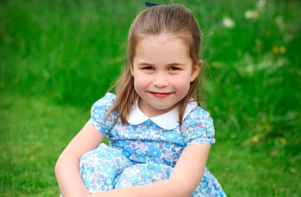 Princess Charlotte taken by her mother, Catherine, Duchess of Cambridge, at Kensington Palace in April to mark her fourth birthday on Thursday May 2nd, 2019. (Photo by the Duchess of Cambridge via Getty Images)