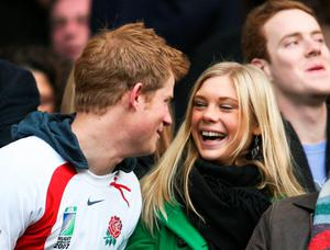 Britain's Prince Harry and Chelsy Davy in 2008