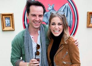Amy Huberman and Andrew Scott in the Casa Bacardi area at Electric Picnic