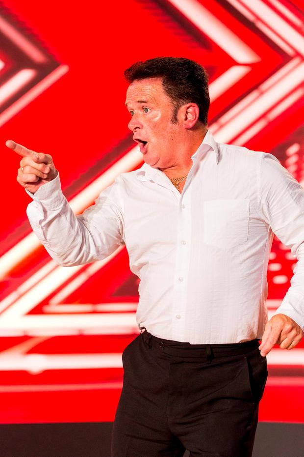 Eddie Lee during the audition stage for the ITV1 talent show, The X Factor Credit: Syco/Thames TV/PA Wire
