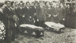 The funeral of George Clancy and Michael O'Callaghan, in Limerick, 1921