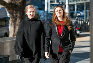 Ciara Quinn and Brenda Quinn - daughters of Sean Quinn - at court
