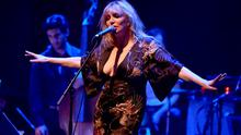 """LOS ANGELES, CA - APRIL 07:  Musician Courtney Love performs onstage during The David Lynch Foundation's DLF Live Celebration of the 60th Anniversary of Allen Ginsberg's """"HOWL"""" with Music, Words, and Funny People at The Theatre at Ace Hotel on April 7, 2015 in Los Angeles, California.  (Photo by Kevin Winter/Getty Images)"""