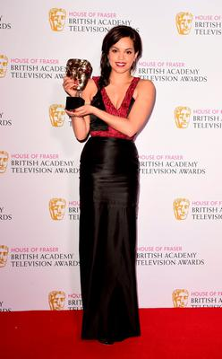 Georgina Campbell with the Leading Actress Award for Murdered by My Boyfriend at the House of Fraser British Academy of Television Awards at the Theatre Royal, Drury Lane in London. PRESS ASSOCIATION Photo. Picture date: Sunday May 10, 2015. See PA story SHOWBIZ Bafta. Photo credit should read: Ian West/PA Wire
