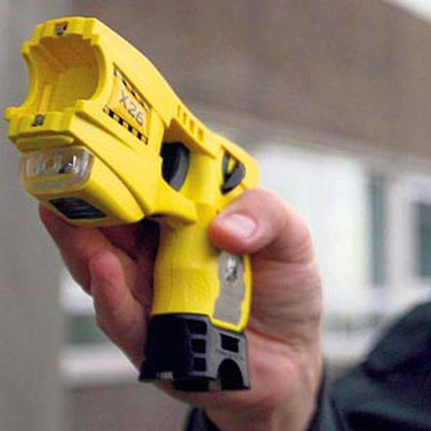 WEAPON: A Taser stun gun, which garda management is considering issuing to members of the force
