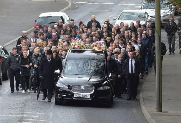 The funeral cortege of Laura Marshall