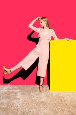 Jumpsuit, €119; shoes, €149, all by Lennon Courtney at Dunnes Stores