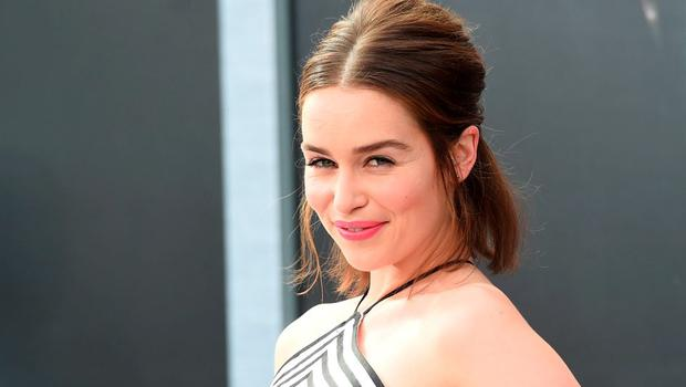 """Actress Emilia Clarke arrives at  the premiere of Paramount Pictures' """"Terminator Genisys"""" at the Dolby Theatre on June 28, 2015 in Hollywood, California.  (Photo by Jason Merritt/Getty Images)"""