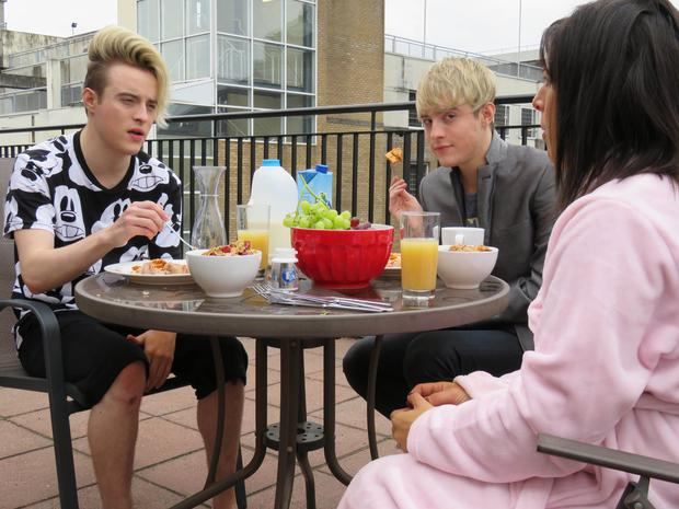 Jedward open up to Lucy Kennedy on Livin' With Lucy. Pics: TV3