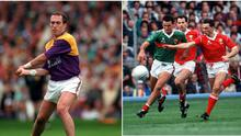 Eamonn Scallan (left) and Tony Davis were both sent off in All-Ireland finals. Image credit: Sportsfile.