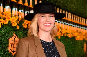 Actress January Jones attends the Sixth-Annual Veuve Clicquot Polo Classic at Will Rogers State Historic Park on October 17, 2015 in Pacific Palisades, California.  (Photo by Jason Merritt/Getty Images for Veuve Clicquot)