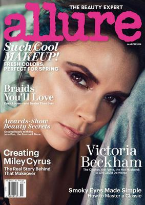 Victoria tweeted a snap of her cover interview on Allure this morning, thanking the publication. (Photo: Twitter/ Victoria Beckham)