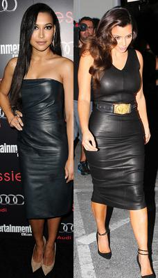 Leather is best for Kim (right) and Naya (left)
