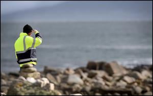 The search continues along the coastline for the missing Rescue 116 helicopter and crew. Photo Steve Humphreys