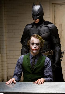 Heath Ledger and Christian Bale in 'The Dark Knight Returns'