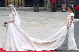Pippa Middleton with sister Kate at the royal wedding in 2011