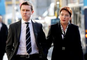 RUTH AND ANDREW KIERNAN  OF DULEEK, CO MEATH, PARENTS  OF THE PLAINTIFF,  AVA  (AGED 7  YRS.) LEAVING COURT. (PIC: COURTPIX.)