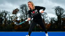 20x20 ambassador, Irish hockey international, Nicci Daly was on hand to help launch the AIG Show Skills competition, launching a highlights video celebrating some of the 3,000 spectacular entries received over the course of the competition (see below). Photo: Ramsey Cardy/Sportsfile