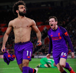 Mohamed Salah grabbed the second goal for Liverpool last night ending a mini drought