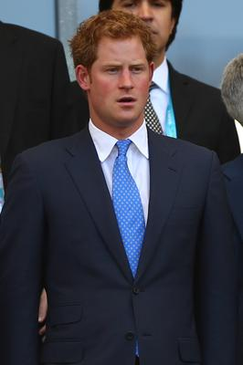 Britain's Prince Harry attends the 2014 FIFA World Cup Brazil Group D match between Costa Rica and England at Estadio Mineirao in Belo Horizonte, Brazil. (Photo by Paul Gilham/Getty Images)