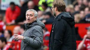 Jose Mourinho (left) and Jurgen Klopp (right).