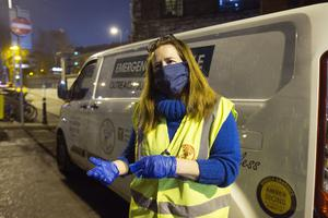 Avril Darker of Inner City Helping Homeless who bring food and essential clothing to the rough sleepers in Dublin's City Centre and surrounding areas. Photo: Tony Gavin 15/12/2020