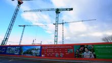 Stalled: The site for the new National Children's Hospital in Dublin. Photo: Gareth Chaney/Collins
