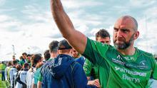 John Muldoon waves to supporters in his final game for Connacht against Leinster in 2018. Photo: Ramsey Cardy/Sportsfile