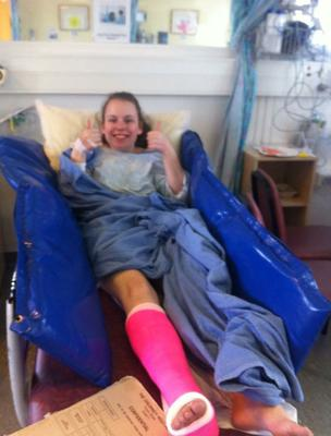 Courtney Manning (18) hopes to raise the funds to undergo life changing surgery in the US