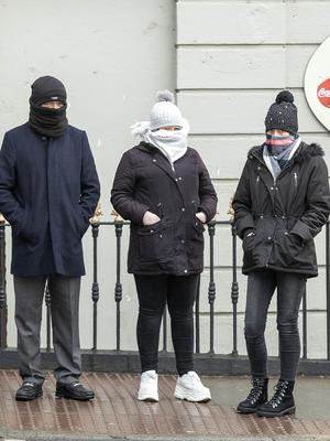 At court: From left, Keith Johnston, Stephanie O'Connor and Louise O'Connor. PIC: Collins Courts
