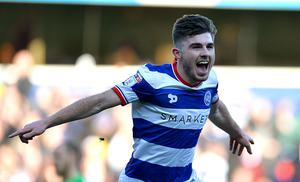 LONDON, ENGLAND - JANUARY 21:  Ryan Manning of Queens Park Rangers celebrates scoring his sides first goal during the Sky Bet Championship match between Queens Park Rangers and Fulham at Loftus Road on January 21, 2017 in London, England.  (Photo by Justin Setterfield/Getty Images)