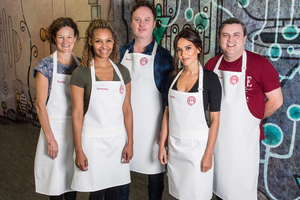 Celebrity Masterchef Ireland, 2016. Photography by Ruth Medjber www.ruthlessimagery.com Group shot
