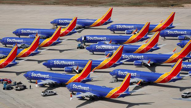 Out of action: The Boeing 737 Max has been grounded since March. Photo: REUTERS/Mike Blake