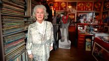 Philomena Lynott with a room full of memorabilia about son Phil (below) at her home in Sutton, Co Dublin. Photo: Caroline Quinn