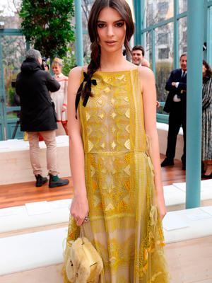 Emily Ratajkowski attends the Valentino show as part of the Paris Fashion Week Womenswear Fall/Winter 2017/2018 on March 5, 2017 in Paris, France.  (Photo by Vittorio Zunino Celotto/Getty Images)