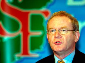 Martin McGuinness speaking at an election press conference in Belfast. Photo: Paul Faith/PA Wire