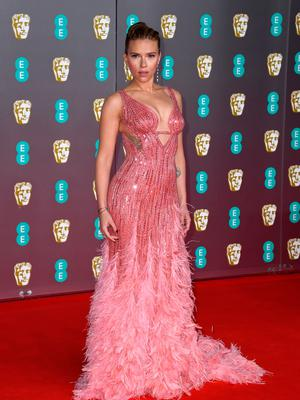 Scarlett Johansson attends the EE British Academy Film Awards 2020 at Royal Albert Hall on February 02, 2020 in London, England. (Photo by Gareth Cattermole/Getty Images)