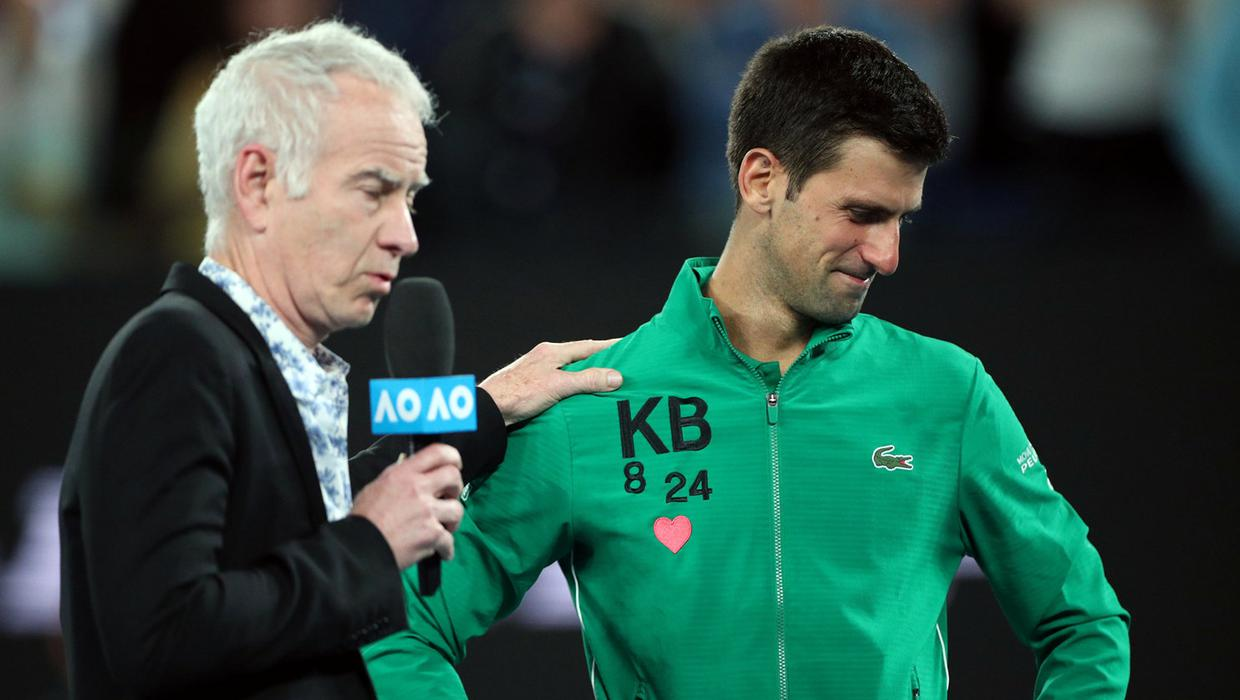 He Was One Of The Greatest Novak Djokovic Pays Tribute To Kobe Bryant After Australian Open Quarter Final Win Independent Ie
