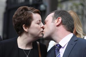 Ruth and her beloved husband Paul in 2019. Photo: Leah Farrell / RollingNews.ie