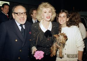 Joan Rivers with her husband Edger Rosenberg and daughter Melissa in 1987