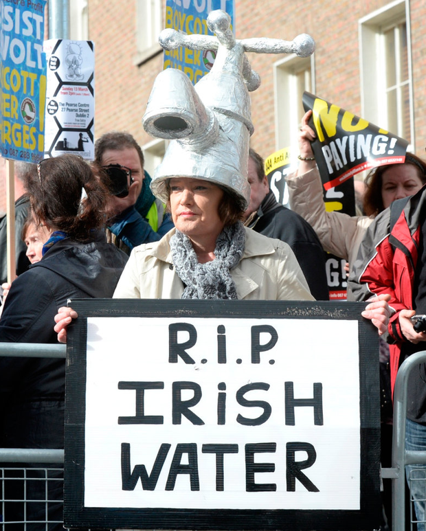 Demonstration: The decision on whether or not to retain water charges will be the most contentious this Oireachtas will take. Photo: Justin Farrelly