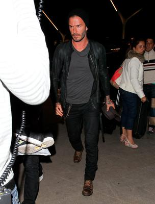 David Beckham is seen at LAX on April 29, 2015 in Los Angeles, California.  (Photo by JOCE/Bauer-Griffin/GC Images)