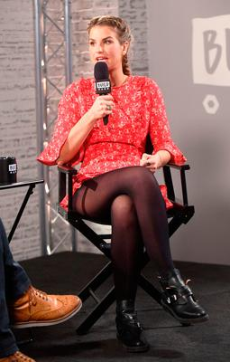 Vogue Williams speaks at a BUILD Series LDN event at the Capper Street Studio in London.