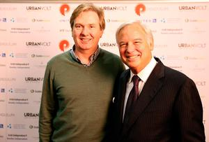 INM Group Editor-in-Chief Stephen Rae and Pendulum speaker Jack Canfield. Photo: Gerry Mooney