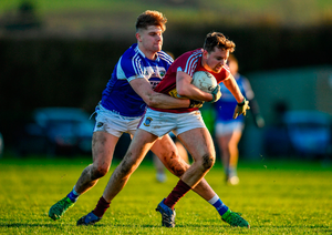 James Sheerin of Westmeath in action against Shane Nerney of Laois. Photo by Sam Barnes/Sportsfile