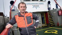 Tourism industry: Skipper of the Arranmore Car Ferry, Seamus Boyle, ferries passengers from Arranmore Island to the mainland in Burtonport, Co Donegal. Photo: Joe Dunne