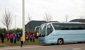 Passengers board a bus as they evacuate the Brussels Airport in Zaventem, on March 22, 2016, after a string of explosions rocked Brussels airport and a city metro station, killing at least 21 people, as Belgium raised its terror threat to the maximum level. AFP PHOTO / THIERRY MONASSETHIERRY MONASSE/AFP/Getty Images
