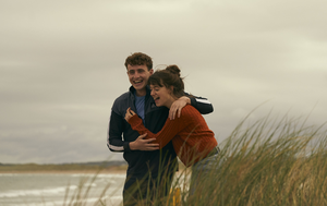 Normal People stars Daisy Edgar-Jones and Paul Mescal in a scene filmed in Streedagh from the hit TV show