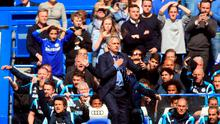 Chelsea manager Jose Mourinho during the Barclays Premier League match at Stamford Bridge
