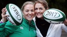 Ireland has what it takes to win the 2017 Women's Rugby World Cup, captain Niamh Briggs (left) said as she and former captain Fiona Coghlan attended the announcement that Ireland would host the event